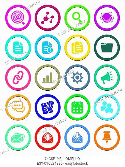SEO circle icon sets
