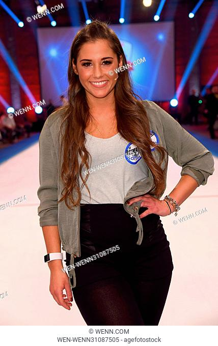 German RTL2 Live TV show 'Der grosse RTL II Promi Curling Abend' at Das rote Krokodil. Featuring: Sarah Lombardi Where: Moenchengladbach