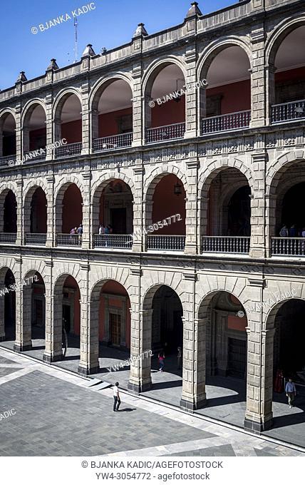 Central courtyard, National Palace, Palacio Nacional, government building, Mexico City, Mexico