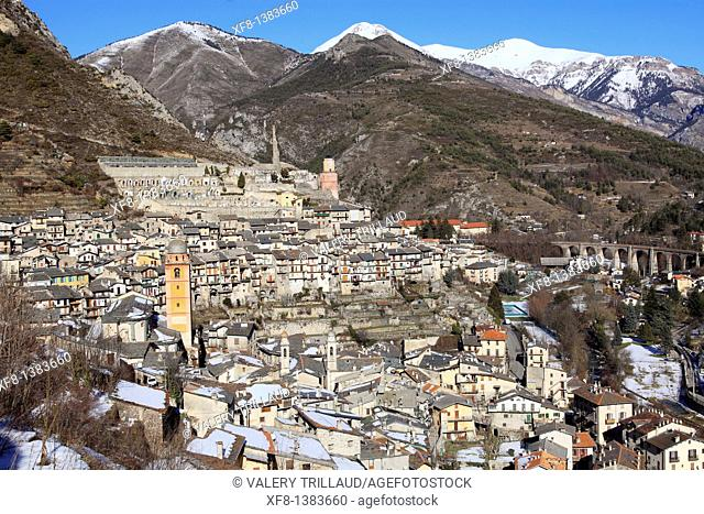 The village of Tende, Vallée de la Roya, Alpes-Maritimes, Provence-Alpes-Côte d'Azur, France