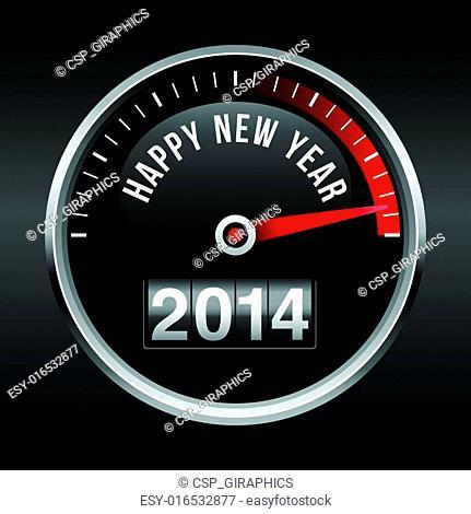 Happy New Year 2014 Speedometer