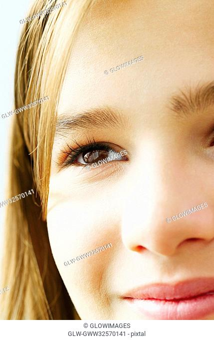 Close-up of a teenage girl's face