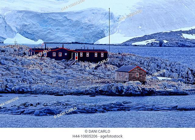 Antarctic, Antarctic Peninsula, Goudier Island, Antarctic Heritage Trust, Museum, Historic Site, Monument nr. 61, Po