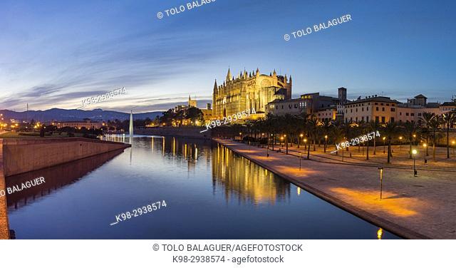 Catedral de Mallorca, Catedral-Basílica de Santa María, siglo XIV, Monumento Histórico-artístico, Palma de Mallorca, Mallorca, balearic islands, spain, europe