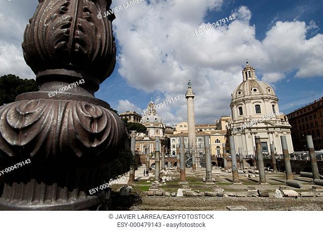 Trajan's Forum, Roman Forum. Rome. Italy