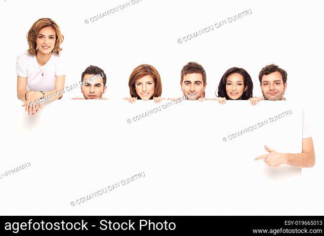 friends showing white board