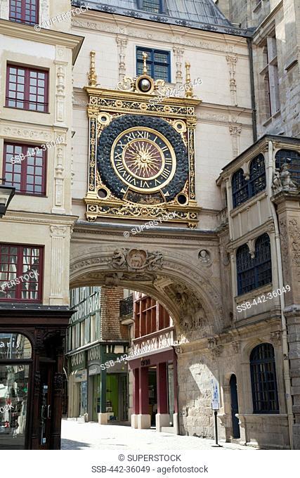 France, Normandy, Rouen, The Gros Horloge aka The Great Clock