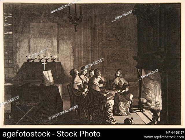 Foolish Virgins Sleeping (Les Vierges folles somnolent en attendant l'arrivé de lépoux). Series/Portfolio: Les Vierges sages et les Vierges folles, no