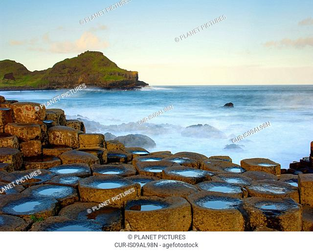 View of Giants Causeway, County Antrim, Northern Ireland