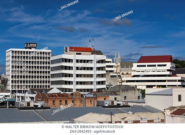 New Zealand, South Island, Otago, Dunedin, CBD skyline, from George Street