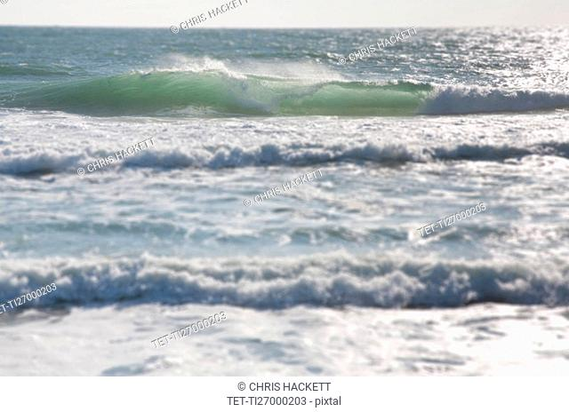 View of waves on sea