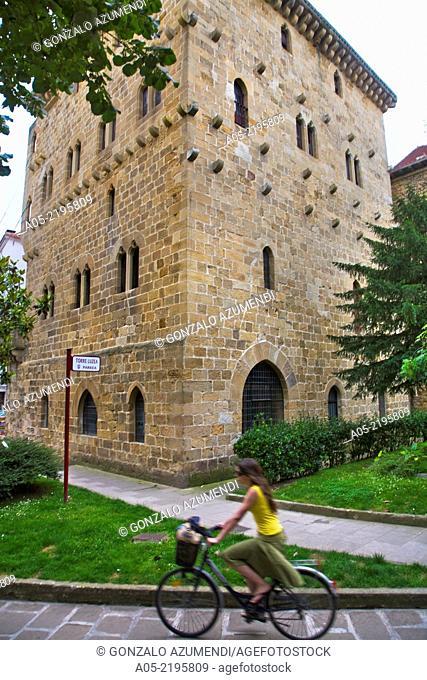 Luzea Tower, Zarautz, Guipuzcoa, Basque Country, Spain