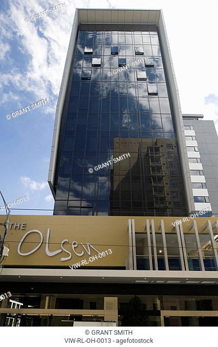 The Olsen, Melbourne, Australia, Rothe Lowman, ROTHE LOWMAN'S OLSEN HOTEL IN MELBOURNE PART OF THE ART SERIES HOTELS EXTERIOR DAYTIME VIEW
