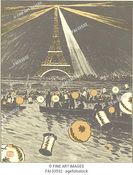 Festivities on the Seine, July 14 (From Thirty-Six Views of the Eiffel Tower) by Rivière, Henri (1864-1951)/Colour...