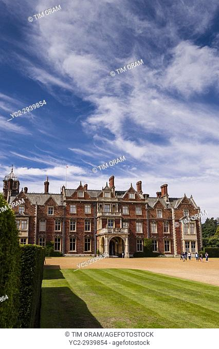 Sandringham House at Sandringham Estate in Norfolk , England , Britain , Uk