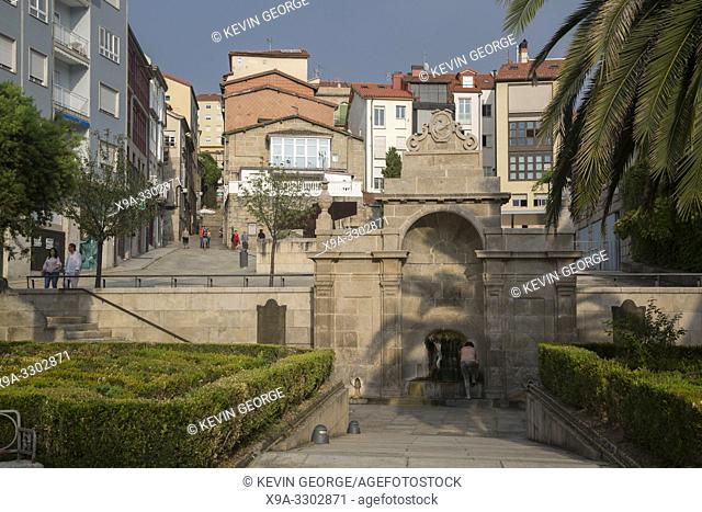 Burgas Termal Hot Spring Fountain; Orense; Galicia; Spain