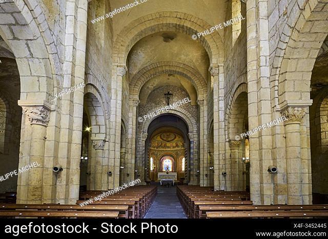 France, Saône-et-Loire (71), Brionnais, Montceaux-L'Étoile, Saint-Pierre and Saint-Paul church
