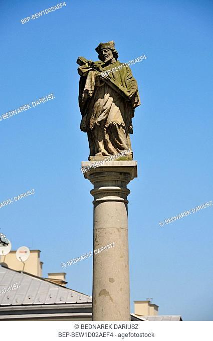 Statue of Saint John Nepomucen. Kielce swietokrzyskie Voivodeship, Poland