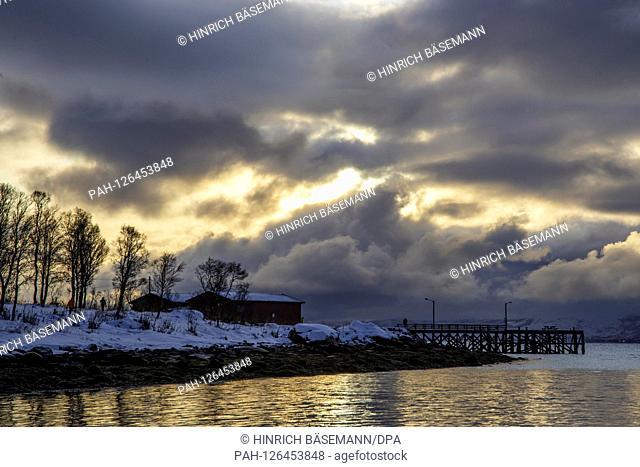 winter in northern Norway, november 2019 | usage worldwide. - Tromsö/Troms/Germany