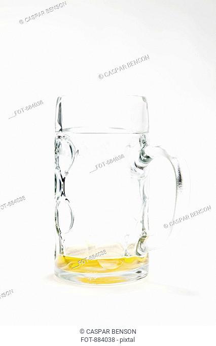 An empty beer mug