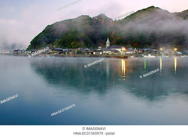 Steam Fog in Sakitsu, Kumamoto Prefecture, Japan