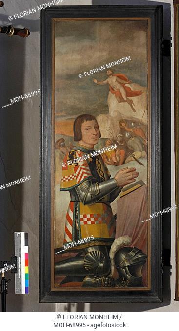 Fürstengruft, Tafel vom Grabmal für Herzog Johann III., Vorderseite