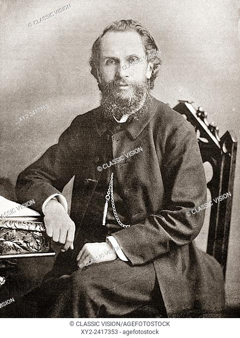 The Revd Benjamin Waugh, 1839-1908. Victorian social reformer and campaigner who founded the UK charity NSPCC. From The Review of Reviews, published 1891