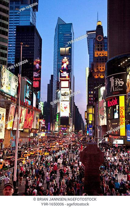 Times Square at dusk, Manhattan, New York City, USA