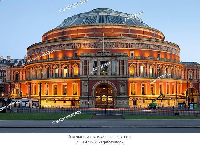 Royal Albert Hall at night,Kensington Gore,South Kensington,London