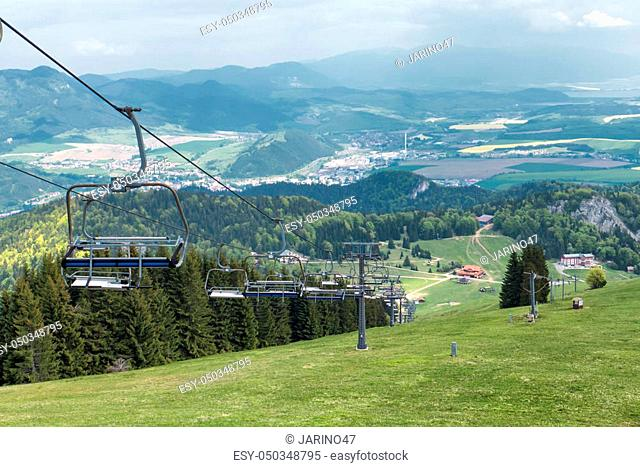 Cableway in resort Malino Brdo, Slovakia