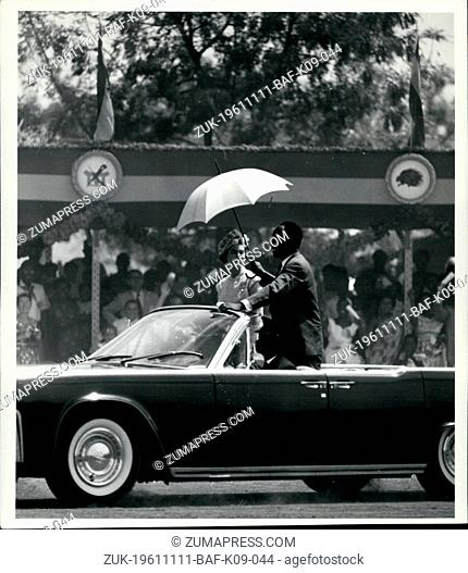 Nov. 11, 1961 - Royal Tour of Ghana.: 50,000 people gave a wonderful welcome to the Queen and the Duke of Edinburgh when they visited Tamale in Northern Ghana