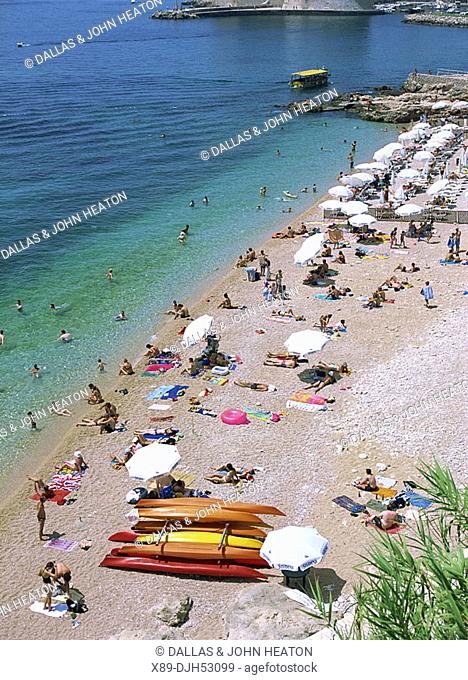 Croatia, Dubrovnik, Old Town, Adriatic sea, Ploce Beach
