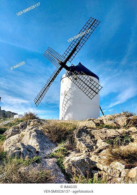 Winmill in Consuegra village, Toledo province, Castilla La Mancha