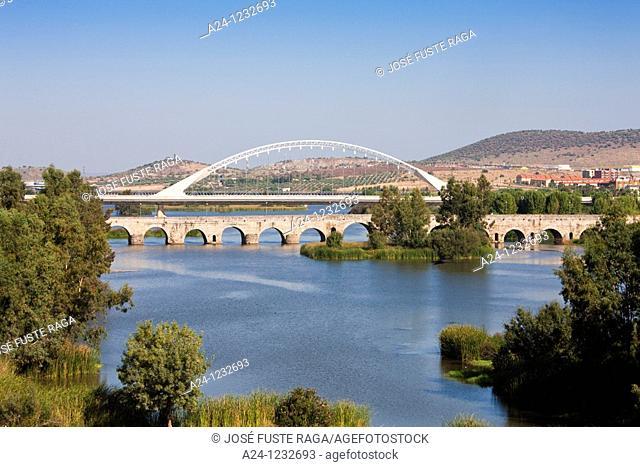 Spain, summer 2010,Merida City UNESCO,the roman bridge