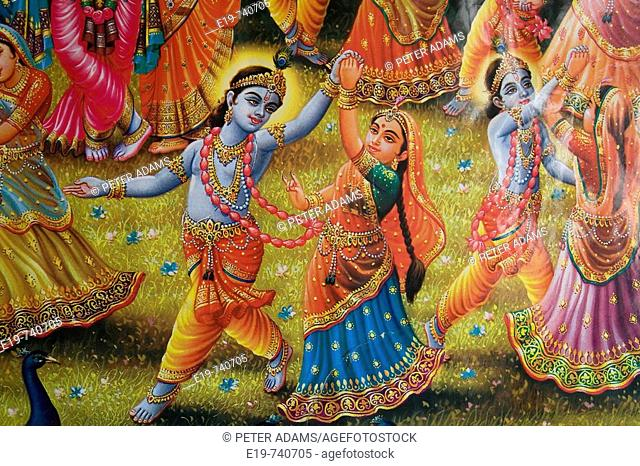 Detail of Indian painting, Delhi, India