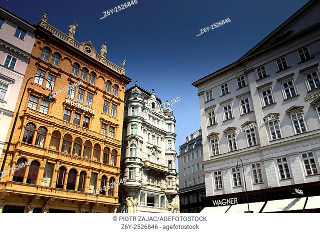 Buildings at Graben in Vienna, Austria