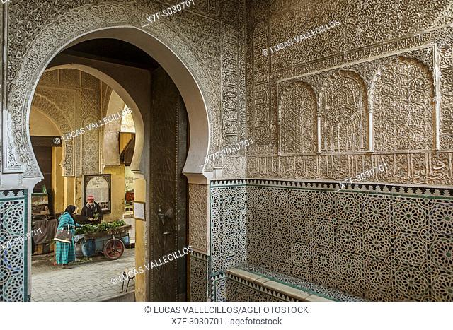 Medersa Bou Inania, Fez el Bali, Fez, Morocco