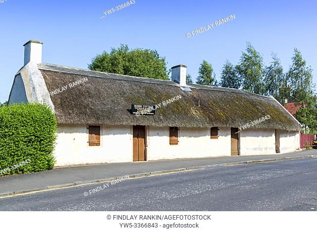 Burns Cottage, the first home of Robert Burns is located in Alloway, South Ayrshire, Scotland. It was built by his father, William Burness in 1757