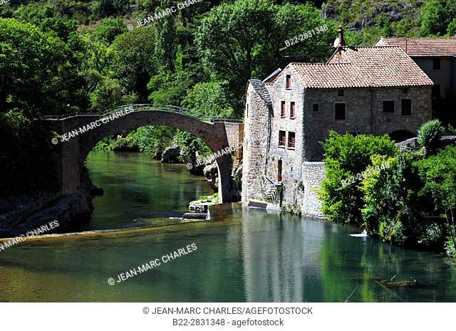 The mill of Corp, le moulin de Corp, Dourbie valley, vallée de la Dourbie, Aveyron, Midi-Pyrénées, Occitanie, France