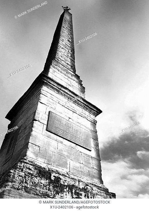 Market Place Obelisk in Ripon North Yorkshire England