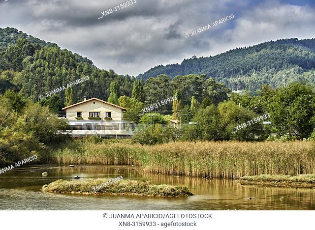 Train Station of Axpe-Busturia, Biscay, Basque Country, Euskadi, Euskal Herria, Spain, Europe