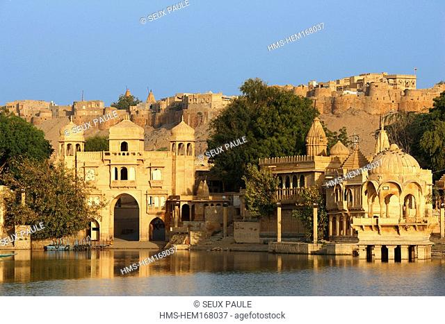 India, Rajasthan State, Jaisalmer, Gadi Sagar water tank
