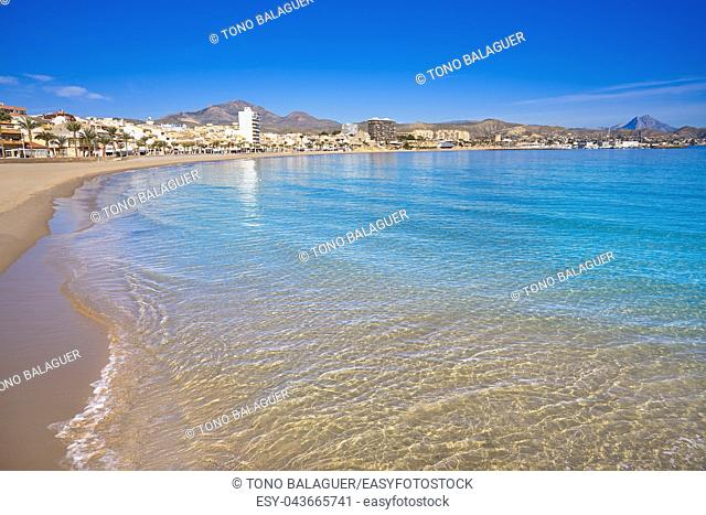 Campello of Alicante Carrer de la Mar beach in Spain at Costa Blanca