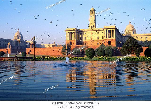 Government Buildings. Rajpath. Delhi. India