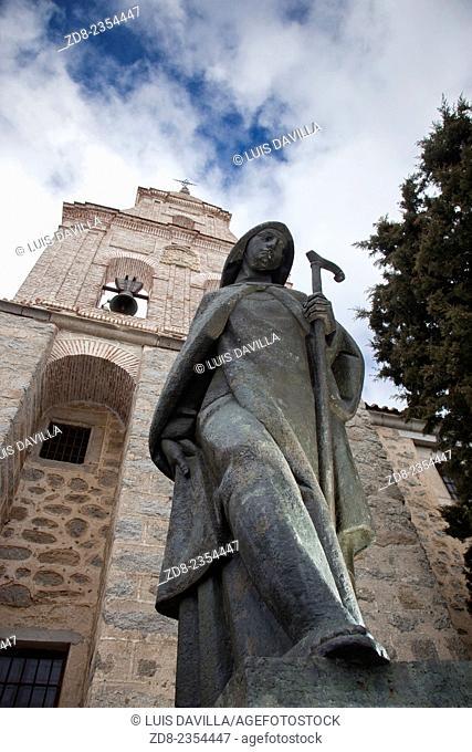 santa teresa statue in la encarnacion monastery. avila