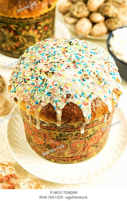 Kulitch (Kulitsch), Russian Easter cake, Russia, Europe