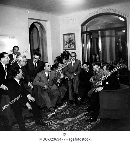 Italian composer and lyricist Umberto Bertini, Italian musicians and composers Dino Olivieri and Vittorio Mascheroni, Italian lyricists Pinchi (Giuseppe...