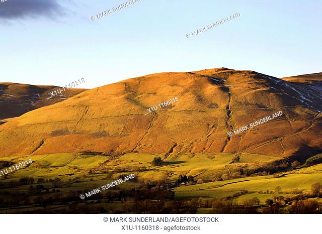 Crook Fell Howgill Fells from Garsdale Yorkshire Dales England