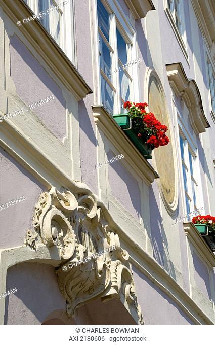 Europe, Austria, Wachau, Krems An Der Donau, Window Box Flowers