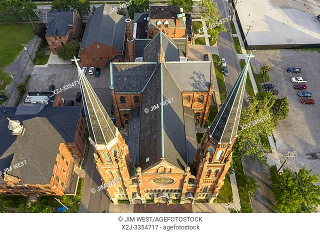 Detroit, Michigan - Ste. Anne de Detroit Catholic Church. Founded in 1701 by French colonists, the parish is now mostly Hispanic